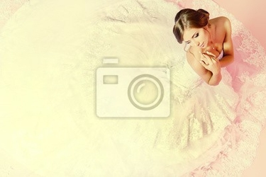 Fototapeta urocza panna młoda