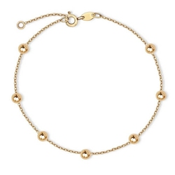 Staviori bransoleta 19cm. żółte złoto 0,333. średnica kulki 3 mm.  długość regulowana 19cm lub 18cm.