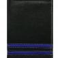 Portfel męski skórzany n4-sgt czarny - niebieski || czarny