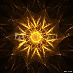 Tapeta ścienna złota duchowa mandala