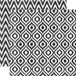 Papier 30,5x30,5 cm Style EssentialOnyx ikat - 013