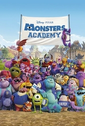 Monsters University  Uniwersytet potworny Academy - plakat
