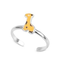 Staviori pierścionek srebrny dla dzieci żyrafa emalia. srebro 0,925