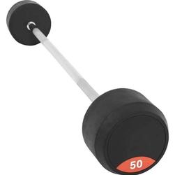 Sztanga gumowana prosta stała 50kg