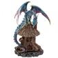 Niebieski smok i chatka czarownicy - podstawka na kadzidła stożkowe zwykłe
