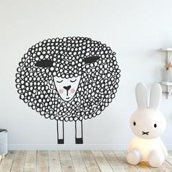 Naklejka na ścianę - cute sheep , wymiary naklejki - szer. 40cm x wys. 40cm