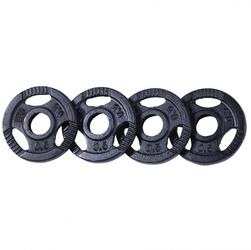 Zestaw obciążeń żeliwnych 4x0,5kg czarne