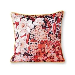 Hkliving poduszka z nadrukiem w kwiaty wielokolorowa 50x50 tku2094