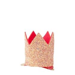 Spinka do włosów meri meri - korona różowa mini