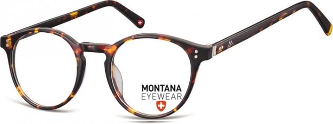Okrągłe oprawki optyczne,lenonki korekcyjne montana ma62a panterka