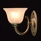 Ładny kinkiet w kolorze antycznej miedzi i biały klosz mw-light classic 450026101