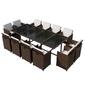 Zestaw ogrodowy stół + krzesła 12 osób borto iii brązowy