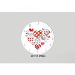 Drewniany zegar serca serduszka 30cm
