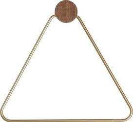Uchwyt na papier toaletowy trójkąt ferm living mosiądz