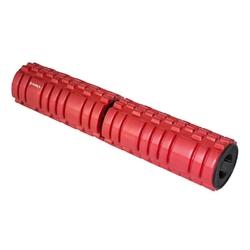 Wałek fitnessroller skręcany 68cm fs112 czerwony - hms - czerwony