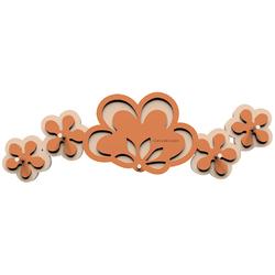 Wieszak na klucze Merletto CalleaDesign terakota  pomarańcz 56-18-1-24