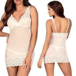 853-che-2 koszulka i stringi biała : rozmiar - sm