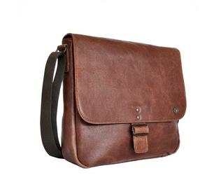Skórzana torba na ramię 2jus by daag stone 2 koniakowa - koniak