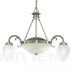 Regency lampa wisząca 5 patyna szkło