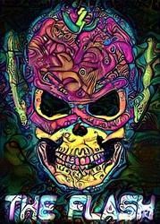 Psychoskulls, the flash, dc comics - plakat wymiar do wyboru: 42x59,4 cm