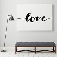 Love - modny obraz na płótnie w stylu skandynawskim , wymiary - 75cm x 150cm