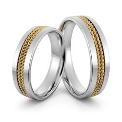 Obrączki ślubne z warkoczami - au-1009