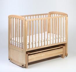 Łóżeczko dziecięce - kołyska de lux glider cot 120x60 troll nursery k. naturalny