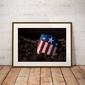Kapitan ameryka tarcza - plakat wymiar do wyboru: 50x40 cm