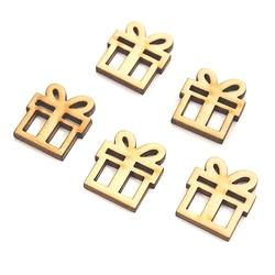 Drewniane scrapki świąteczne prezent 5 szt. - 10