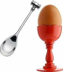 Kieliszek do jajek Dressed z łyżeczką czerwony