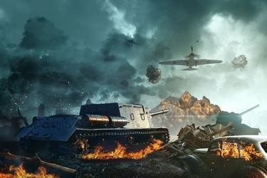 Fototapeta bitwa czołgów 1166