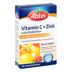 Abtei cynk z witaminą c tabletki do ssania