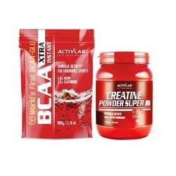 Activlab bcaa xt instant 800g + creatine powder 500g zestaw aminokwasów rozgałęzionych i kreatyny w proszku