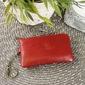 Krenig classic 12021 czerwone skórzane etui na klucze - czerwony
