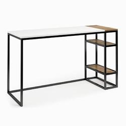 Nowoczesne biurko z kontenerkiem connect steel cinquie 130 cm
