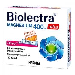 Biolectra magnesium 400 mg ultra direct orange granulat