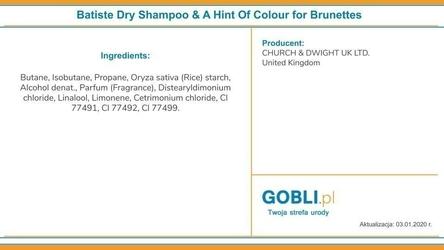 Batiste beautiful brunette, suchy szampon dla szatynek, ożywia kolor włosów 200ml