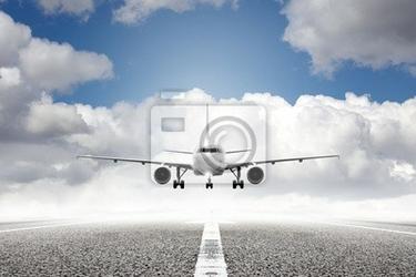 Fototapeta samolot na lotnisku startu