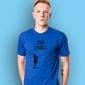 Żyję chwilą t-shirt męski niebieski m