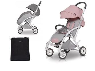 Wózek easygo minima plus powder pink + mini organizer gratis