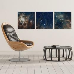 Galaxy art - komplet trzech obrazów na płótnie , wymiary - 30cm x 30cm 3 sztuki