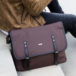 Listonoszka męska torba na ramię s17 knock brązowa - brązowy