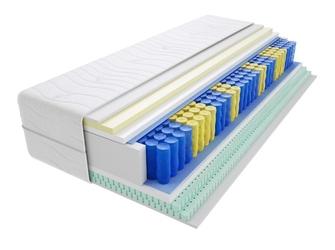 Materac kieszeniowy apollo 125x145 cm średnio twardy 2x lateks visco memory