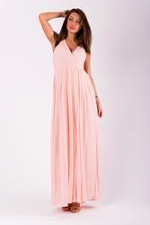 Evalola sukienka pudrowy róż 51002-1