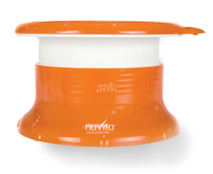 Nocnik podróżny Nuvita, pomarańczowo-biały