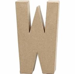 Litera z papier mache 20,5x2,5 cm - W - W