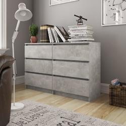 Vidaxl szafka, betonowa szarość, 120x35x76 cm, płyta wiórowa