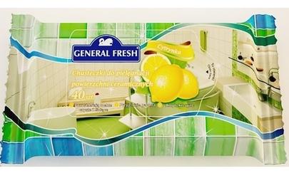 General fresh cytryna, chusteczki do pielęgnacji powierzchni ceramicznych, 40 sztuk