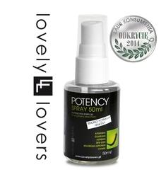 Spray wzmacniający erekcję - lovely lovers potency spray 50ml strong formula + energy
