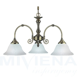 Virginia lampa wisząca 3 patyna szkło